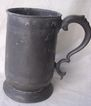 Georgian U shaped Quart Pewter Tankard