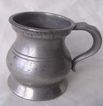 Victorian Bellied Polished Pewter GILL Measure