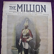 1892 Front Cover Of THE MILLION Newspaper ' Corporal Of  Horse, 1st Life Guards'