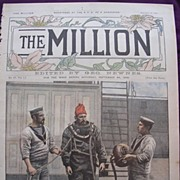 Front Cover From September 1892 Edition Of THE MILLION Newspaper ' Types Of The British Navy -