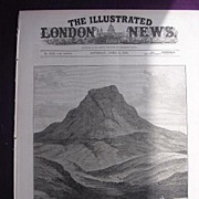 'The Transvaal War: Majuba Hill'  Front Cover From The Illustrated London News April 1881