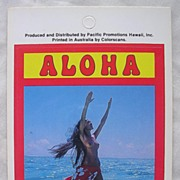 Vintage Hawaiian Wahine Nude Sticker By Pacific Promotions Inc