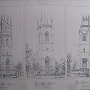 Stunning Large 1858 Lithograph of St. PETER'S - Lowick: St. MARY'S - Worstead: St.ANDREWS -  S