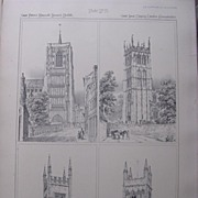Stunning Large 1858 Lithograph of St. PETER'S MANCROFT - Norwich: St. JAMES - Chipping-Campden
