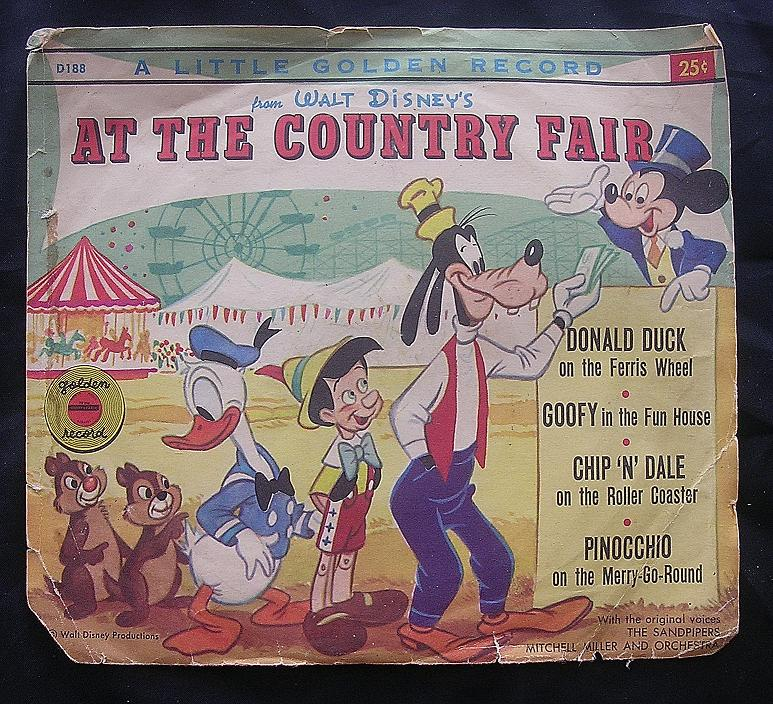 WALT DISNEY'S Little Golden Record 'At The Country Fair'