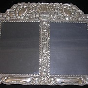 SALE Stunning Baroque Sterling Silver Picture Frame Circa Early 1900's