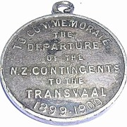 RARE 1900 Medallion 'To Commemorate The Departure of The N.Z. Contingents To The Transvaal'