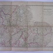 1830 MAP of The East Central Region of England - William  IV Period