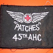 VIETNAM  War 45th Ambulance Helicopter Company Shoulder Patch