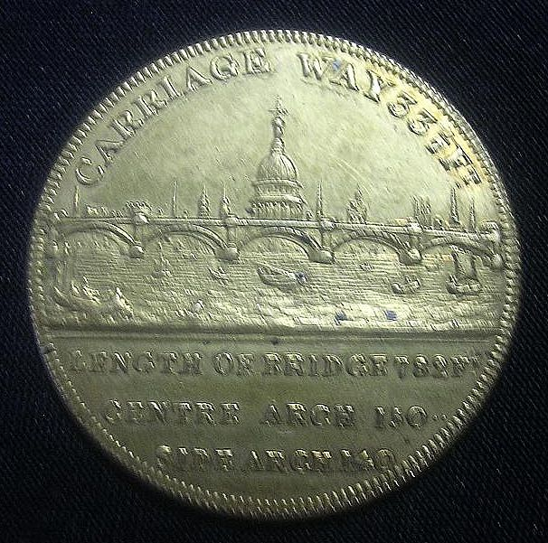 1831 Medallion Commemorating The Opening of The New London Bridge