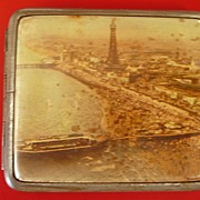 Blackpool Souvenir Art Deco Cigarette Case 1930's