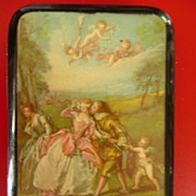 1930's Deco Cigarette Case with Georgian Scene