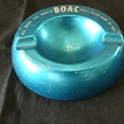 BOAC Alloy Advertising Ashtray.