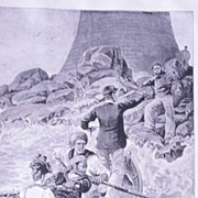 'Visitors To The Lighthouse'  Full Page from The London Illustrated News Sept. 1895