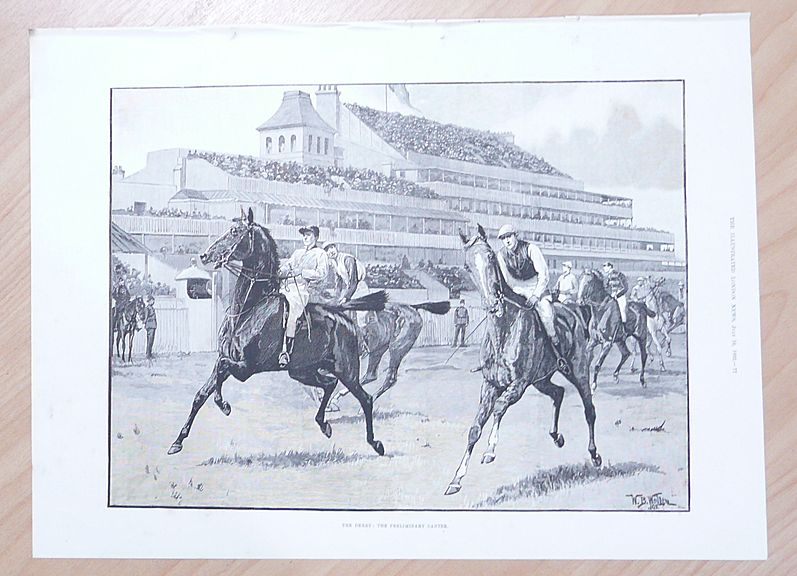 Full Page Illustrated London News 1892  &quot;The Derby - The Preliminary Canter&quot;&quot;