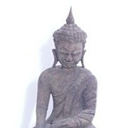 SALE Very Old  Hand Carved Wooden  BUDDHA -Thailand Circa 19th Century