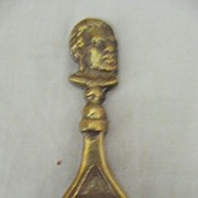 Old 'MAORI CHIEF'  Souvenir Brass Bottle Opener