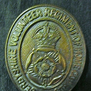 WW1 British Army Badge - Derbyshire Volunteer Regiment of Home Guards