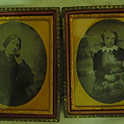 Victorian Travelers Cased Ambrotype's