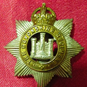 WW1 British Army Badge - The Devonshire Regiment