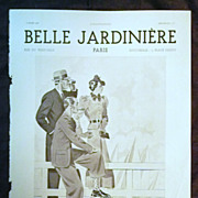 "SALE ORIGINAL ""BELLE JARDINIERE""  Advert From  L ' Illustration French Magazine  Mar"