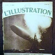 "SALE ORIGINAL ""HINDENBURG "" Front Cover  From L ' Illustration French Magazine May 1"