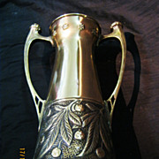 Fabulous Art Nouveau WMF Brass Vase Circa 1900