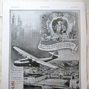 "SALE ORIGINAL ""LISBONNE""  Tourist  Advert From L ' Illustration French Magazine Dece"