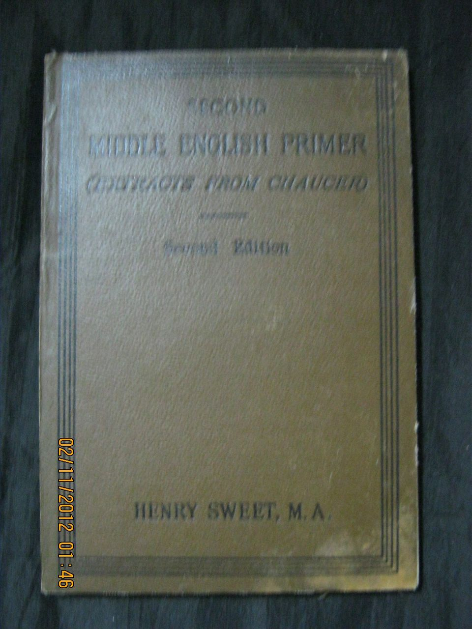 Second Middle English PRIMER  (Extracts from Chaucer) 1892