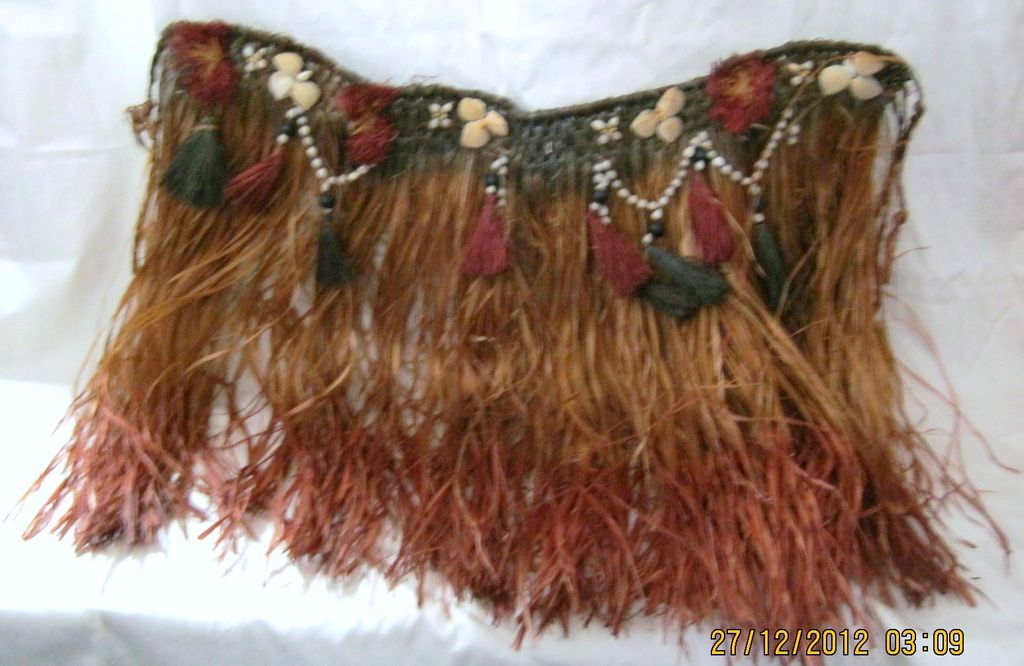 Rare Original 1940's Hawaiian Hula Skirt