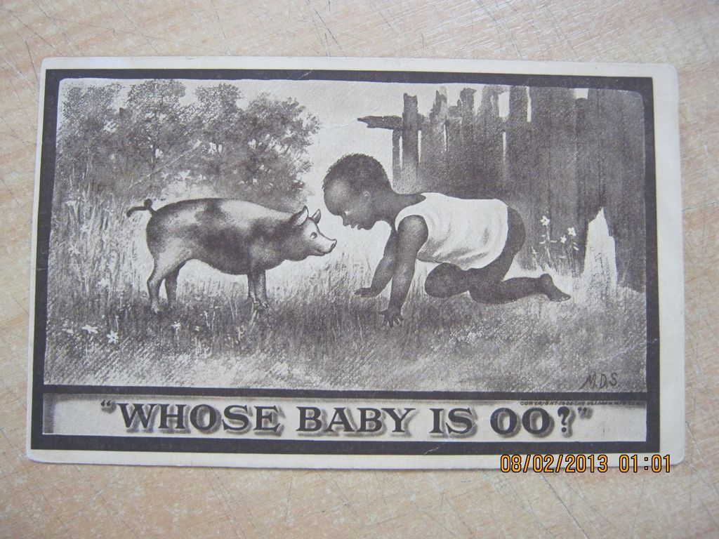Black American Postcard &quot; Whose Baby Is OO?&quot;