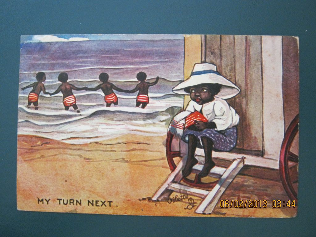 Black American Postcard &quot; My Turn Next&quot;