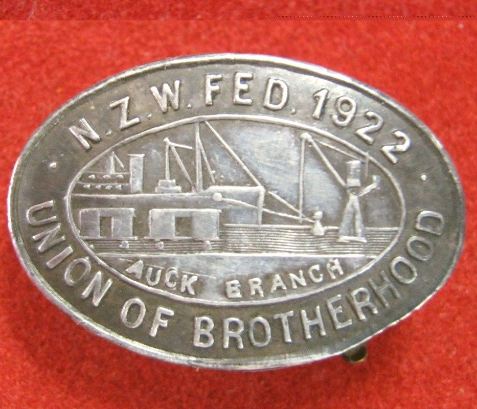 Old New Zealand Watersiders Union of Brotherhood Membership Badge
