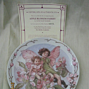 'Apple Blossom Fairies' Windsor China -  Limited Edition Plate 1998