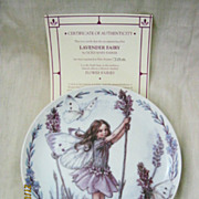 'Lavender Fairy' By Windsor Fine China - Limited Edition Plate 1998