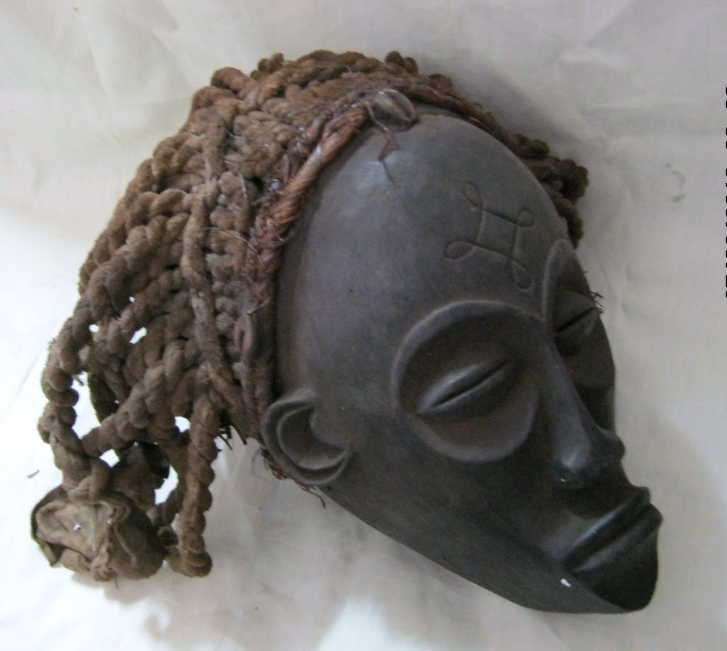 African CHOWKE Tribal  &quot;Mwana Pwo&quot; Mask  - Circa 1940 - 1950