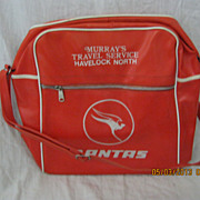 QANTAS Bright Orange Retro Cabin Bag