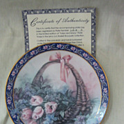 Lena Liu's Basket Bouquets By W.L George - Limited Edition Plate