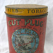 Large  Tobacco Tin  &quot;CUT PLUG No. 10&quot;  National Tobacco Co. New Zealand