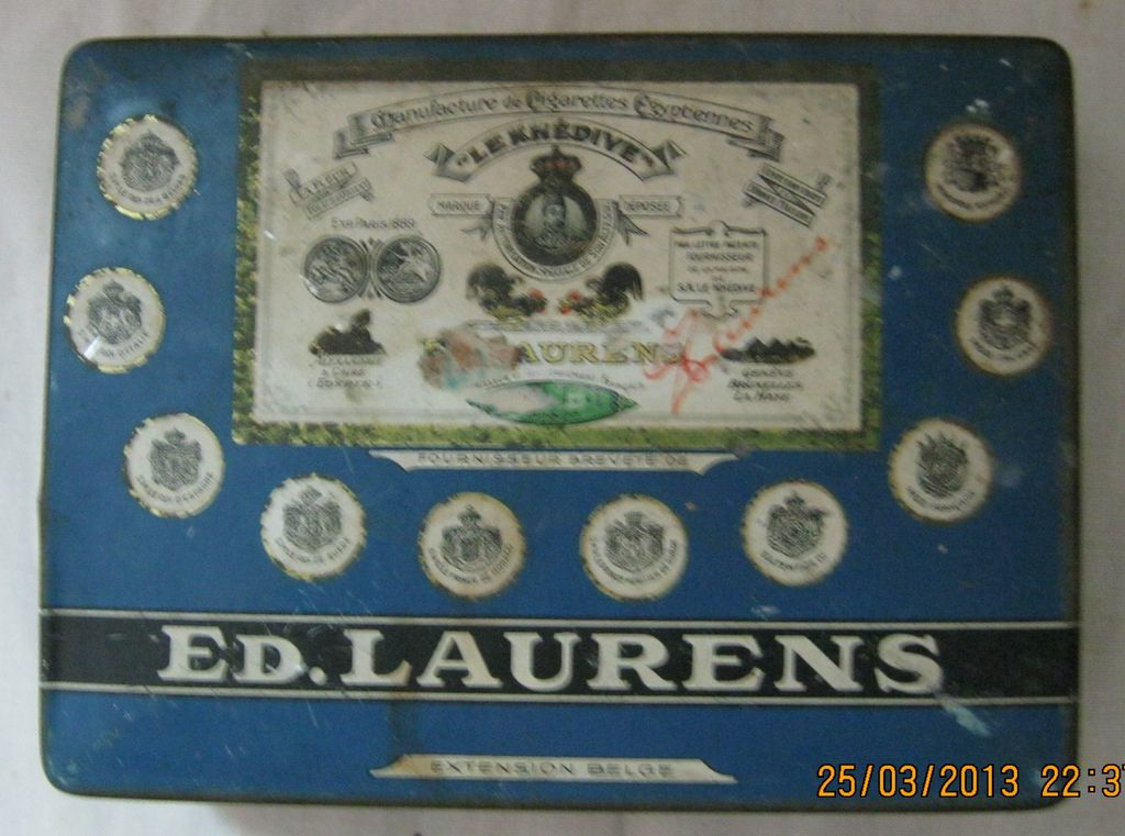 ED LAURENS &quot;Stella&quot; Cigarette Tin 1920's