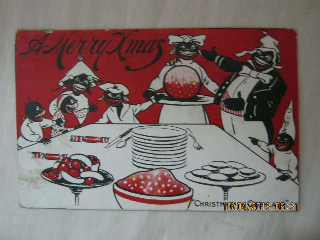 "Black American Postcard  ""A Merry Christmas"""