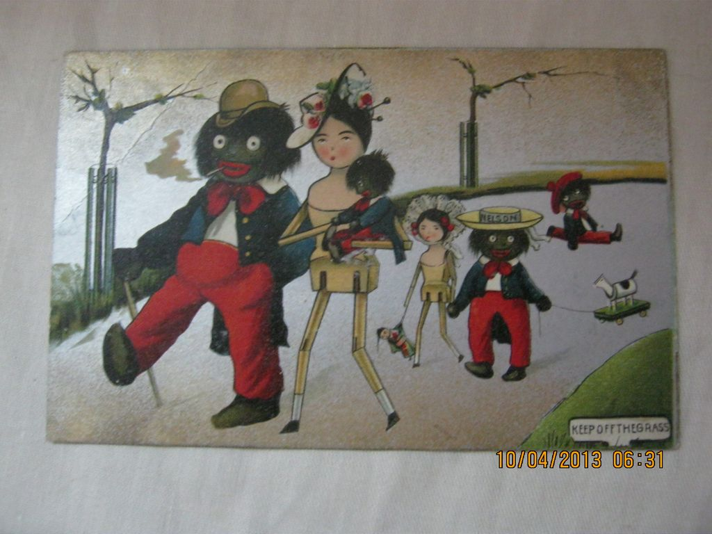 Black American Postcard  &quot;Golliwog Family&quot;