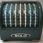 Retro 'SOLO' Mechanical Calculator Machine