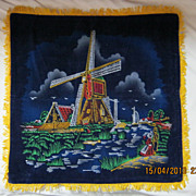 RETRO 70's &quot;Holland&quot; Tourist  Souvenir Cushion Cover