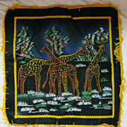 RETRO &quot;African Giraffes&quot; Tourist Cushion Cover