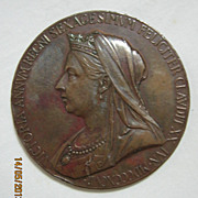 Queen Victoria Bronze Medallion 1837 - 1897  60 Years Reign