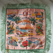 Hawaiian Souvenir Cushion Cover Circa 1950