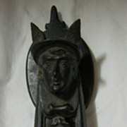 Fabulous Cast Iron &quot;MERCURY&quot; Door Knocker -1864
