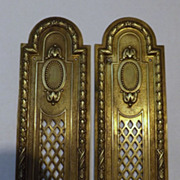 A Pair of French Push Plates -Circa 1890 -1900