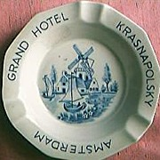 Grand Hotel Krasnapolsky Amsterdam Advertising Ashtray